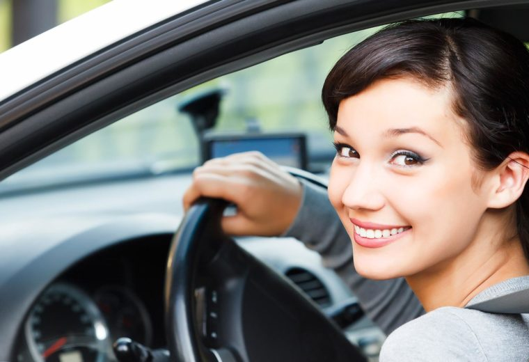 Happy Woman with Affordable Auto Insurance in Braintree, MA