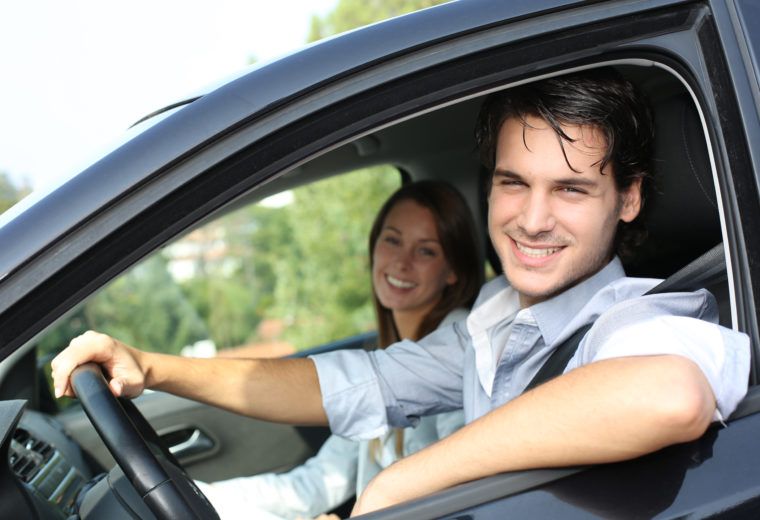Happy driver with car insurance in Hingham, MA